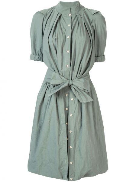 Расклешенное приталенное платье с воротником Kitx