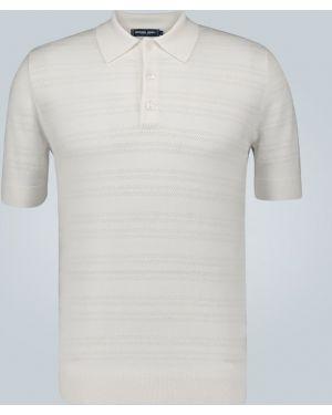 Рубашка с короткими рукавами с манжетами под запонки шерстяная Frescobol Carioca