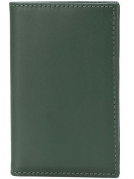 Portfel skórzany zielony klasyczny Comme Des Garçons Wallet