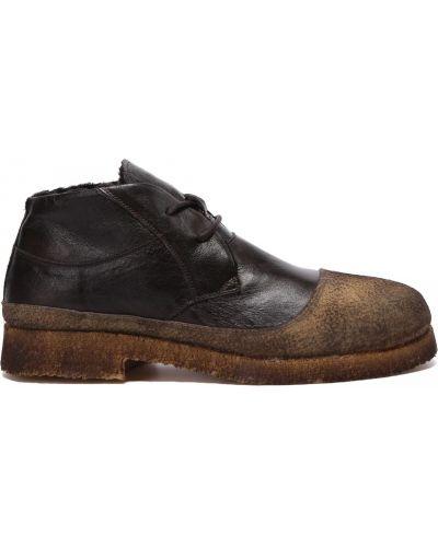 Коричневые кожаные ботинки на шнуровке Rocco P.