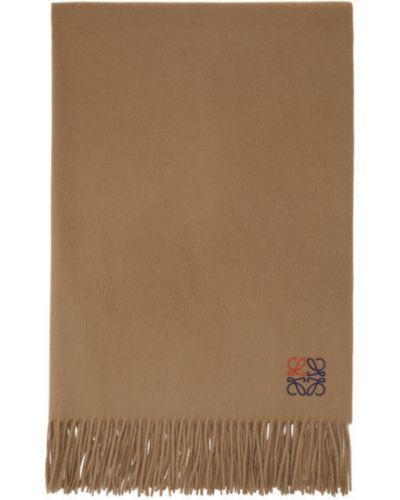 Z kaszmiru szalik z haftem Loewe