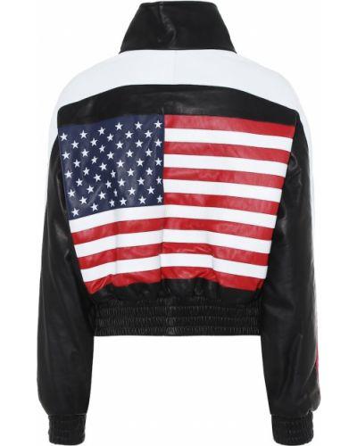 Кожаная куртка черная американский Amiri
