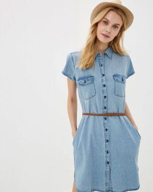 Джинсовое платье голубой весеннее Colin's