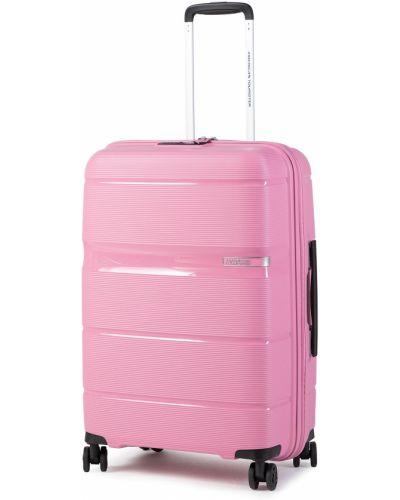 Walizka średnia - różowa American Tourister