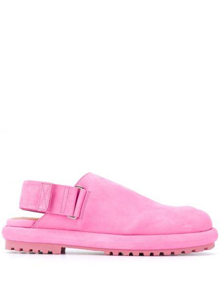 Z paskiem różowy loafers z prawdziwej skóry Jacquemus