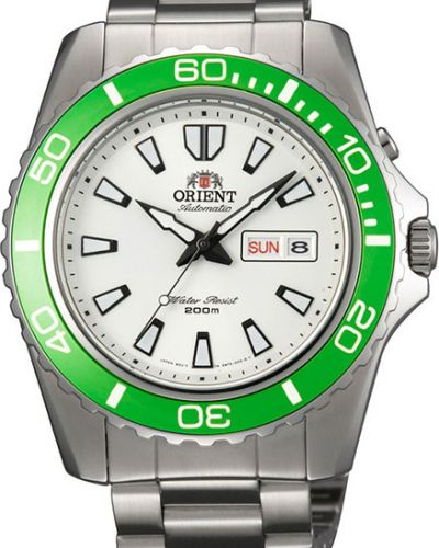 Часы водонепроницаемые механические с подсветкой Orient