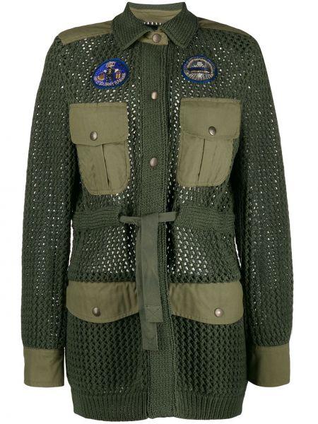Пальто классическое зеленое милитари Mr & Mrs Italy