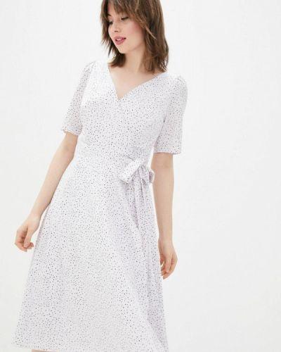 Белое платье с запахом Sfn