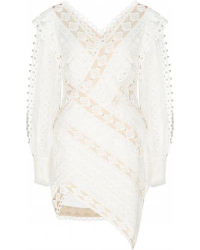 Платье мини с V-образным вырезом шелковое Zimmermann