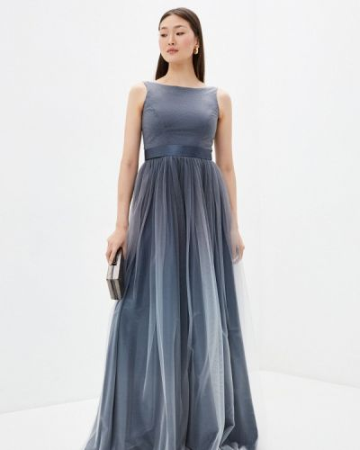 Серое вечернее платье Seam