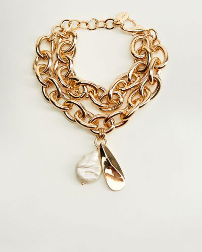 Золотой браслет с подвесками золотой Mango