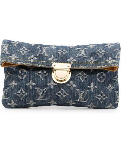 Złota kopertówka - niebieska Louis Vuitton