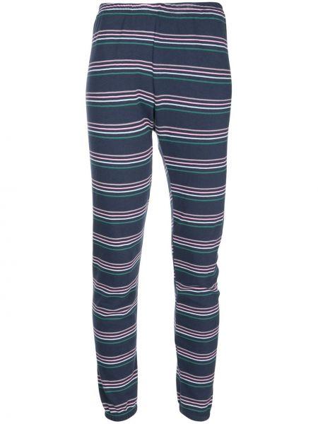 Niebieskie spodnie w paski bawełniane Wildfox