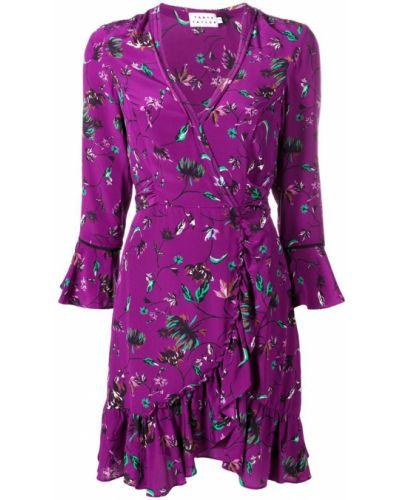 Платье с запахом на шнуровке Tanya Taylor