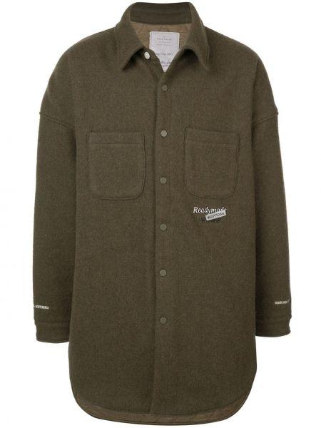 Klasyczny koszula długa zielony Readymade