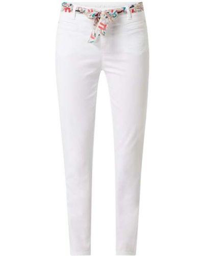 Białe spodnie bawełniane Rosner