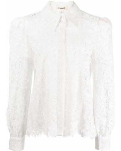 Длинная рубашка - белая L'agence