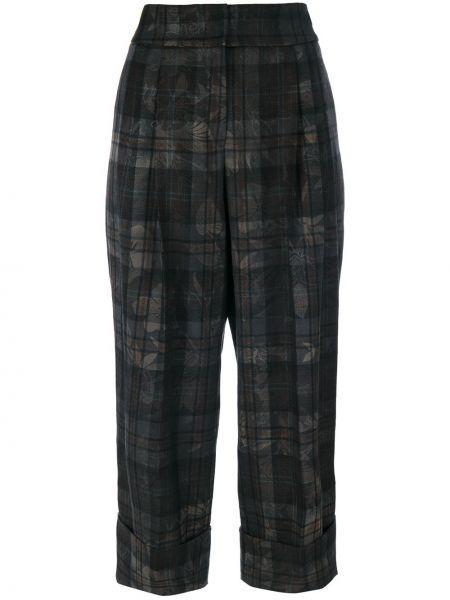 Укороченные брюки свободные шерстяные Antonio Marras