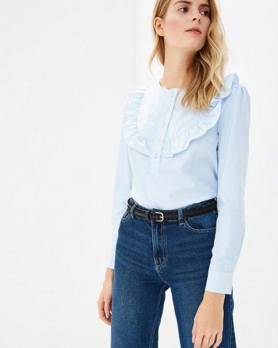 Голубая блузка с длинным рукавом Fashion.love.story
