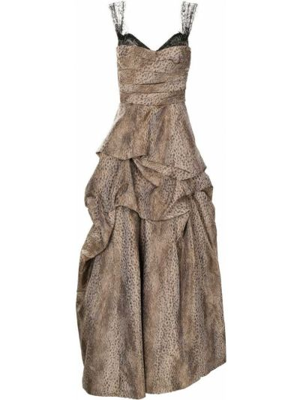 Ажурное платье - коричневое Monique Lhuillier