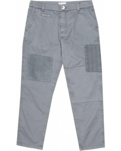 Szary bawełna bawełna spodnie rozciągać Brunello Cucinelli Kids