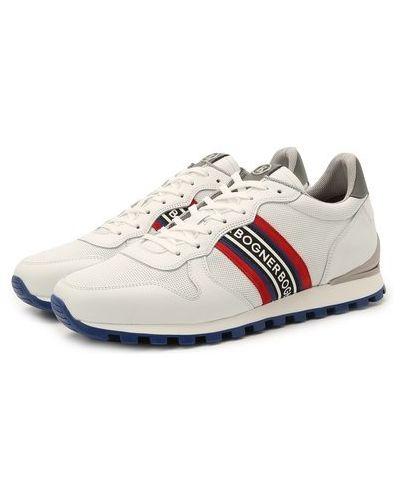 Кожаные белые кроссовки с подкладкой Bogner