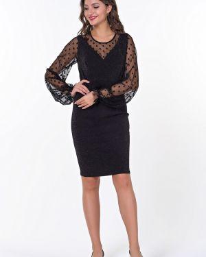 Платье в горошек с запахом Valentina