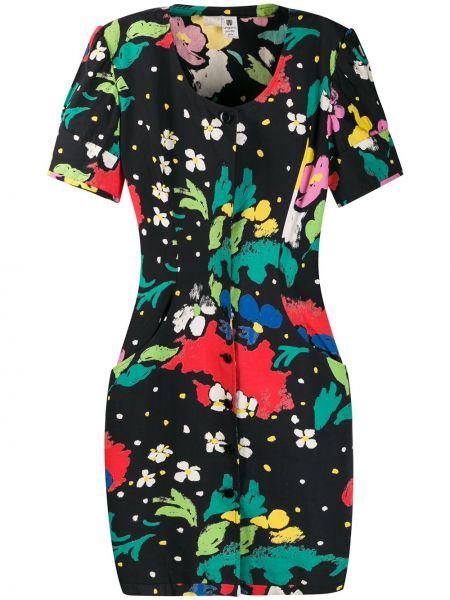 Платье мини винтажное на пуговицах с рисунком Emanuel Ungaro Pre-owned