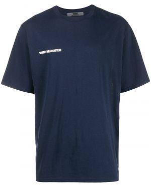 Синяя футболка с нашивками Wwwm