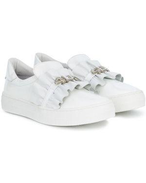 Белые кроссовки с оборками Cesare Paciotti 4us Kids