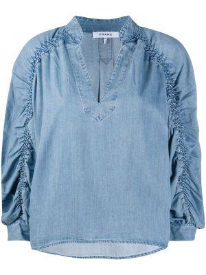 Хлопковая блузка - синяя Frame