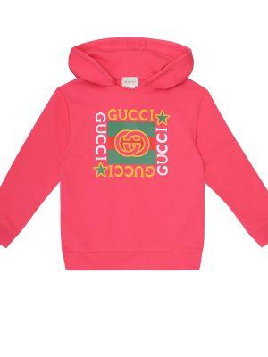 Bawełna bawełna różowy bluza z kapturem Gucci Kids