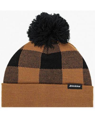 Коричневая шапка осенняя Dickies