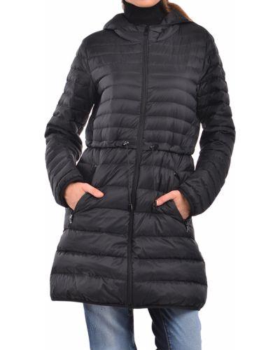 Пуховик с перьями - черный Armani Jeans