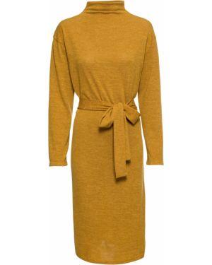 Платье с поясом оверсайз с длинными рукавами Bonprix