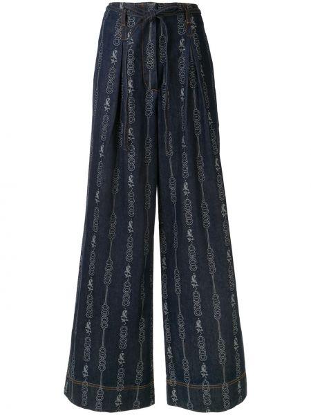 Широкие джинсы с карманами жаккардовый Tory Burch