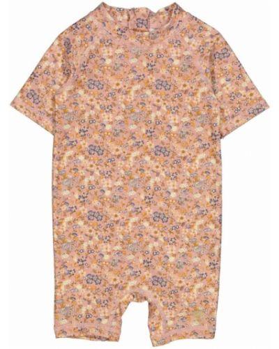 Pomarańczowy strój kąpielowy krótki rękaw Wheat