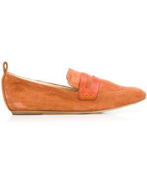 Лоферы классические оранжевые Lanvin