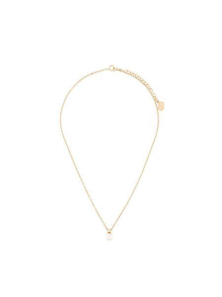 Ожерелье с жемчугом - желтое Christian Dior Pre-owned
