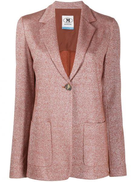 Оранжевый однобортный классический пиджак с карманами M Missoni