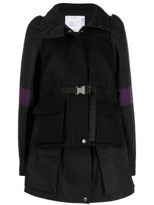 Длинная куртка - черная Sacai