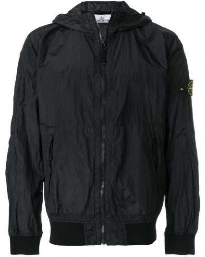 Длинная куртка с капюшоном милитари приталенная Stone Island