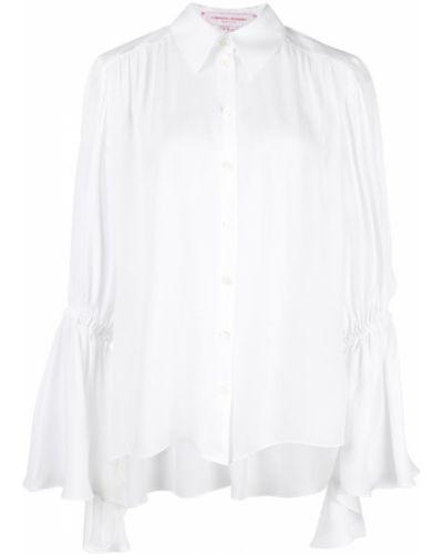 Блузка шелковая на резинке Carolina Herrera