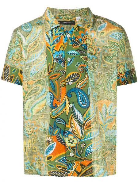 Koszula krótkie z krótkim rękawem klasyczna piasek Daniele Alessandrini