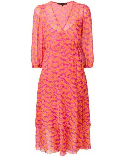 Платье с запахом - розовое Luisa Cerano