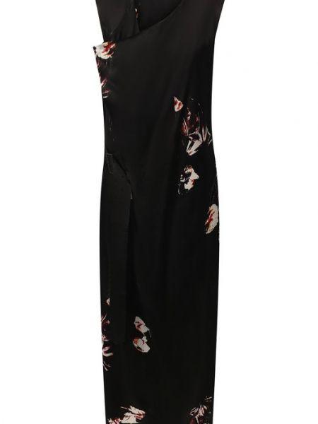 Черное платье миди с подкладкой Yohji Yamamoto