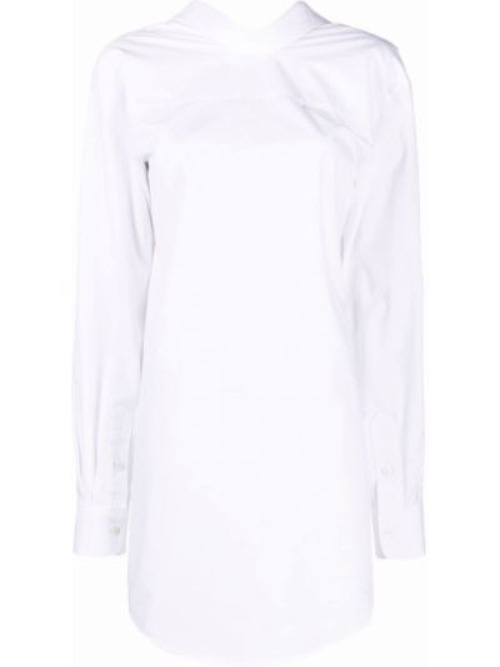 Biała sukienka długa bawełniana Viktor & Rolf