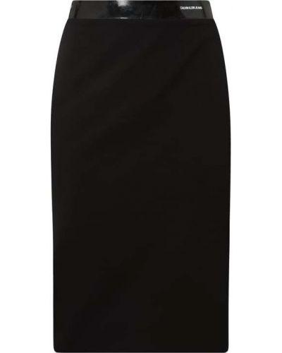 Czarna spódnica z wiskozy Calvin Klein Jeans