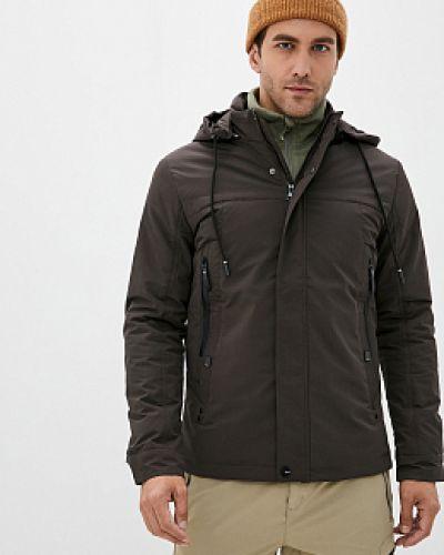 Коричневая утепленная куртка с воротником Winterra