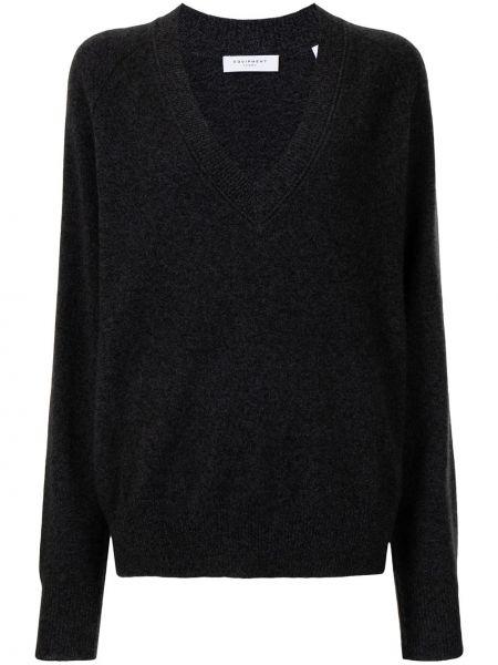 Пуловер с вырезом - серый Equipment